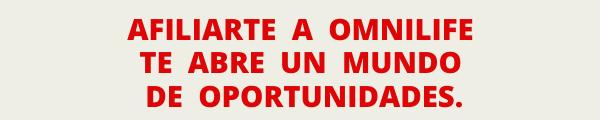 AFILIACIÓN A OMNILIFE POR INTERNET O EN TIENDAS (CEDIS).
