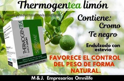 thermogen tea limón de omnilife